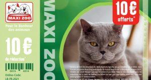 Maxi Zoo : bons de réduction de 10 et 5 euros