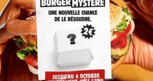Burger King : le Burger et la glace Mystère à 2€