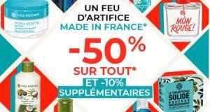 Soldes Yves Rocher : -50% sur tout + -10% supplémentaires