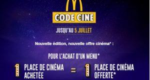 McDonald's Code Ciné : des millions de cadeaux à gagner