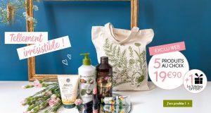 Yves Rocher : 5 produits à 19.90 euros + tote bag + livraison offerts