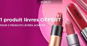 Kiko : pour 2 produits lèvres achetés, le 3ème offert