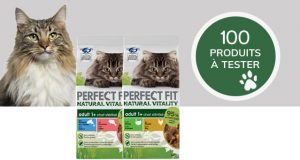 210 lots de croquettes et produits Perfect Fit pour chat à tester