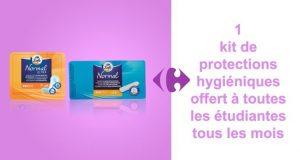 Carrefour : kit de protections hygiéniques gratuits chaque mois