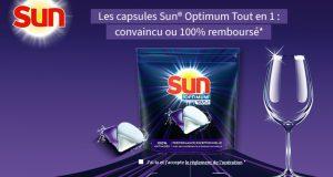Lave-vaisselle : capsules Sun Optimum 100% remboursées