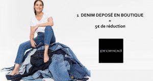 Promod : 1 denim déposé en boutique = 5€ de réduction