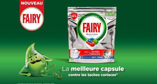 Échantillons gratuits de capsules Fairy lave-vaisselle
