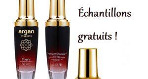 Échantillons gratuits d'huile parfumée pour cheveux Argan essence