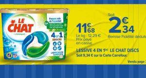 Optimisation: lessive Le Chat moins chère pour 0,34€