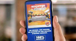 Burger King : Whopper à gratter, le jeu 100% gagnant