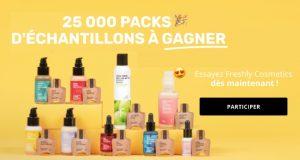 25.000 packs d'échantillons Freshly Cosmetics à gagner
