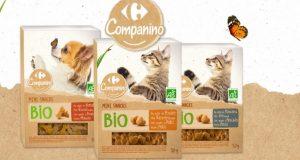 Test gratuit des aliments pour chats et chiens Companino Bio Carrefour