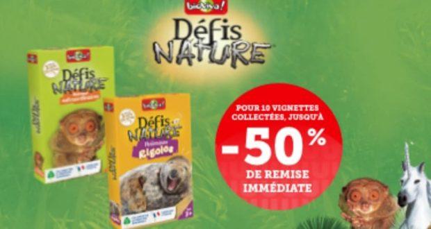 Vignettes Défis Nature chez Super U : jeux à -50%